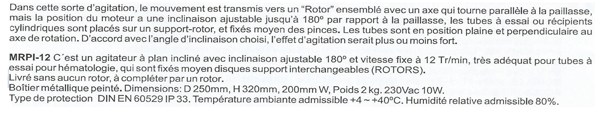 Agitateur a rotation verticale incline ref