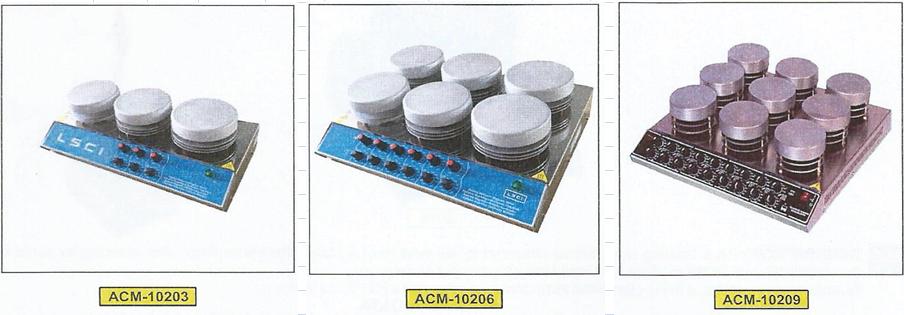 Agitateur multipostes magnetiques avec chauffage
