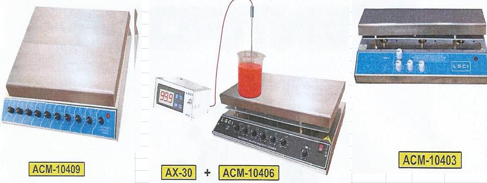 Agitateurs magnetiques multipostes avec chauffage commun